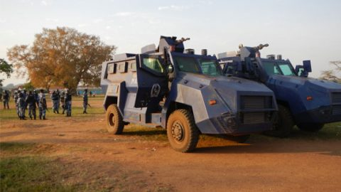Tear gas trucks were present during kamuli bye-elections