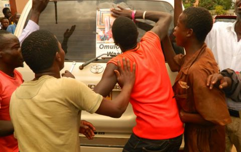 Youths join kampala protests
