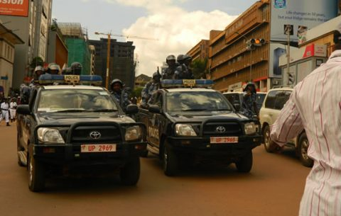 Police patrols in lead during the recent protests in kampala