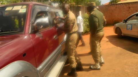 UW Photo: Police blocks Lukwago from leaving his home on fears that he will be kidnapped by unknown people
