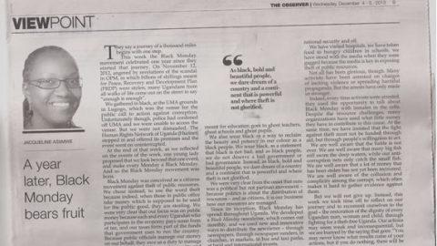 "Black Monday has energized war against corruption ""Larok"""