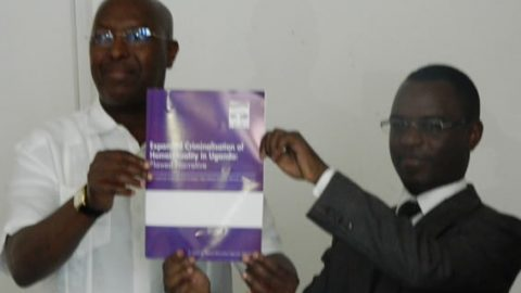 Gay community in Uganda issues a new report in a bid to fight Parliament's kill the gay act