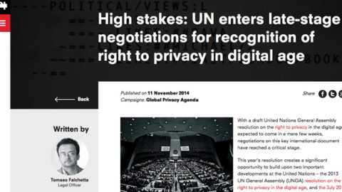 UN enters late-stage negotiations for recognition of right to privacy in digital age