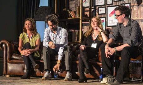 Sankey, Bartlett, Machon and Ball on-stage at the Web Summit conference. Photograph: Web Summit