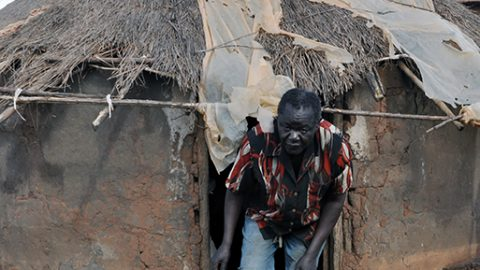 Land Grabbing Confines an Elder in an IDP Camp.