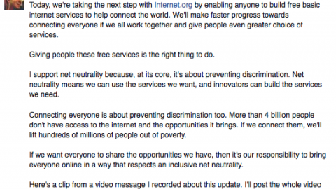 Mark Zuckerberg About Internet.org