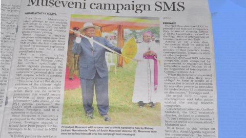 Uproar over unsolicited Museveni campaign SMS