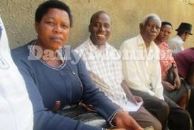 Mr Darious Tweyambe (2nd L) is now detained at SIU Kireka.