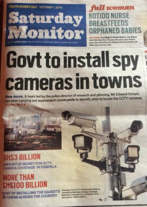 Daily Monitor 01/10/2016 story on Surveillance.