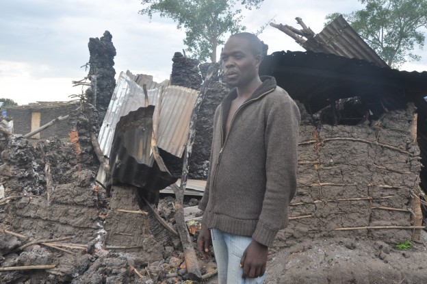 Sekitende joseph expalining how his house was burnt down