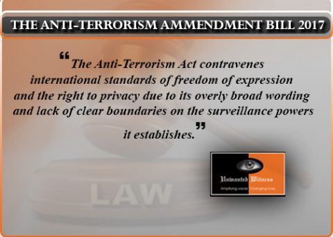GoU Tables Amendments to the Anti-Terrorism Act, 2002 (as amended 2015).
