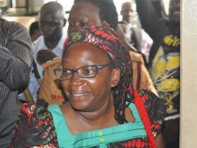 Stella Nyanzi in court room  earlier in the day