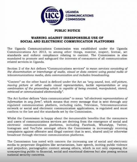 UCC Threatens Social Media users As Constitutional Age Limit Debate goes online.