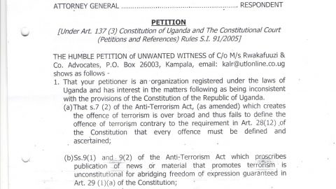 Anti Terrorism Petition