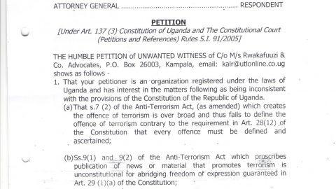Anti Terrorism Petition