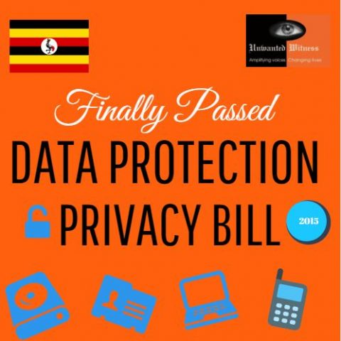 Unwanted Witness Welcomes Parliament's move to Pass the Data Protection and Privacy Bill, 2015.