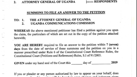 Unwanted Witness Petition Challenging UCC's Directive For Mandatory Registration Of Online Publications