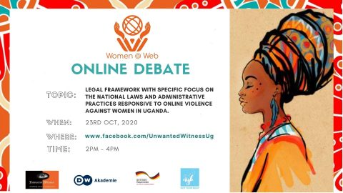 Unwanted Witness Conducts an Online (Facebook Live) debate to demystify Internet-based Violence against Women in Uganda.